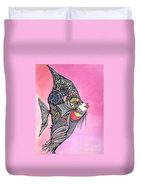 Priscilla The Fish Duvet Cover