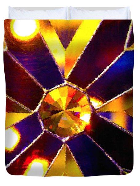 Prism Glass Spectrum Duvet Cover by Karon Melillo DeVega