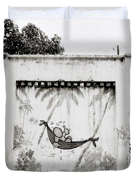 Prison Mural Duvet Cover by Shaun Higson