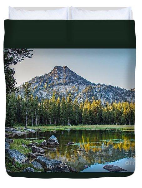 Pristine Alpine Lake Duvet Cover by Robert Bales