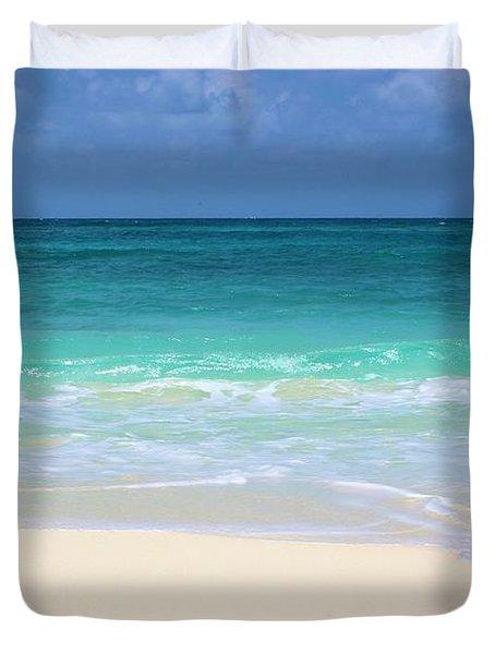 Pristine Beach Cancun Duvet Cover