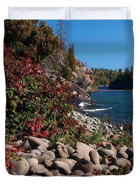 Pristine Shoreline Duvet Cover