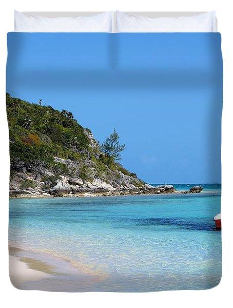 Private Beach Bahamas Duvet Cover
