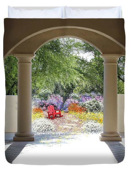 Private Garden Duvet Cover by Kume Bryant