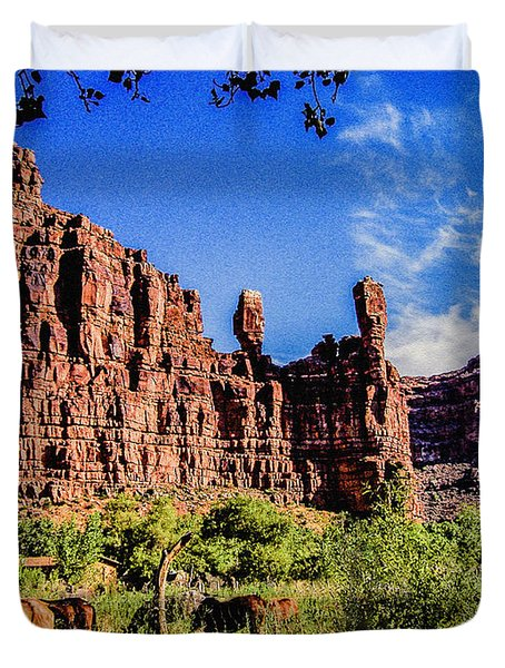Private Home Canyon Dechelly Duvet Cover