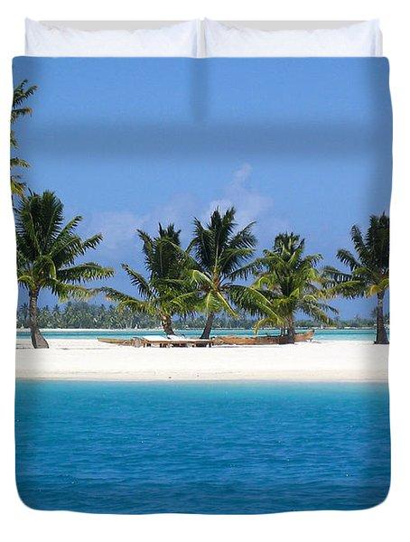 Private Motu Bora Bora Duvet Cover by Camilla Brattemark