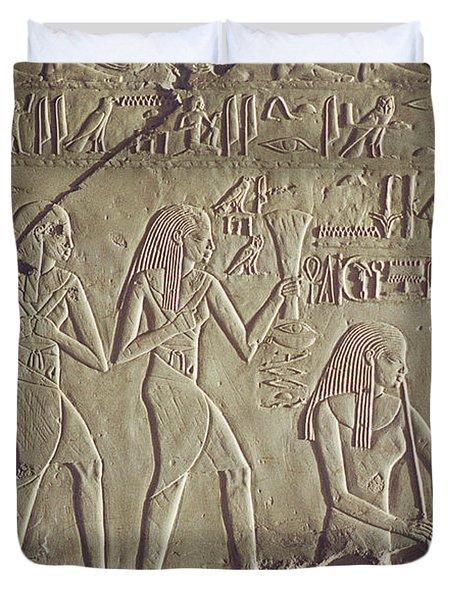 Private Tomb Of Kheruef Kheruf Cheriuf Tt 192 Asasif-stock Image-fine Art Print-valley Of The Kings Duvet Cover