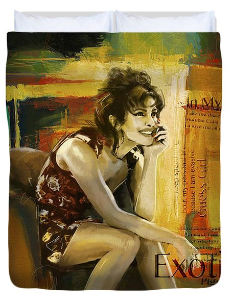 Priyanka Chopra Duvet Cover by Corporate Art Task Force