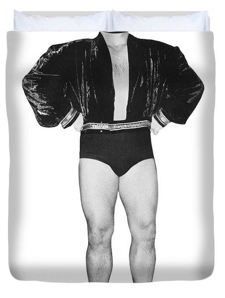 Pro Wrestler Mister M Duvet Cover