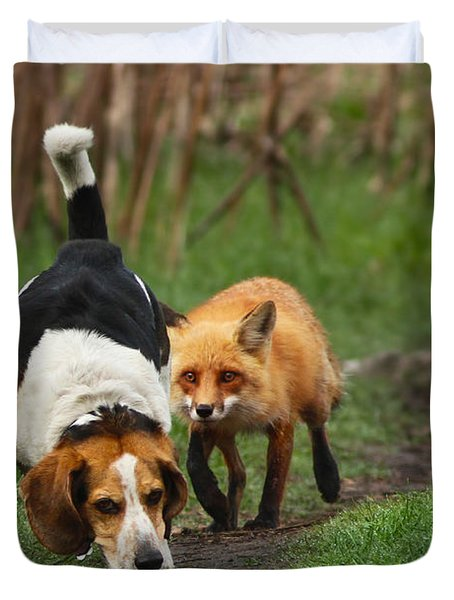 Probably The World's Worst Hunting Dog Duvet Cover