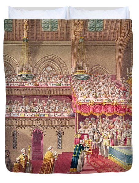 Procession Of The Dean And Prebendaries Of Westminster Bearing The Regalia, From An Album Duvet Cover