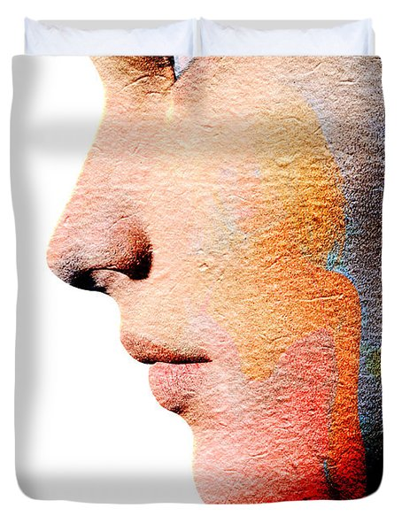 Profile Of A Woman Duvet Cover by David Ridley