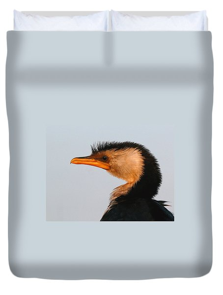 Profile Of A Young Cormorant Duvet Cover