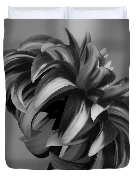 Profile Of Not Santa Two In Black And White Duvet Cover by Jeanette C Landstrom