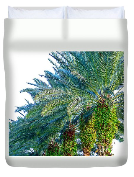 Duvet Cover featuring the photograph Progression Of Palms by Joy Hardee