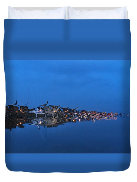 Promenade In Blue  Duvet Cover