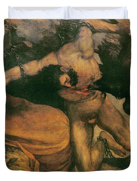 Prometheus Oil On Canvas Duvet Cover