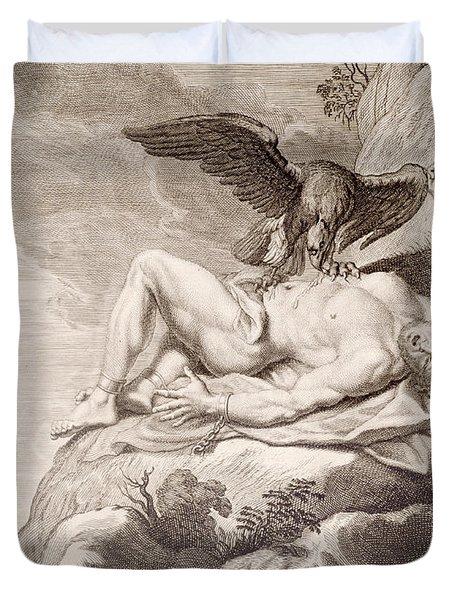 Prometheus Tortured By A Vulture Duvet Cover