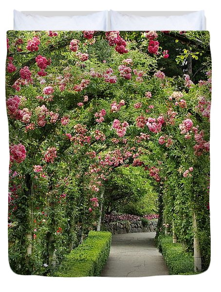 Rose Promenade   Duvet Cover by Natalie Ortiz