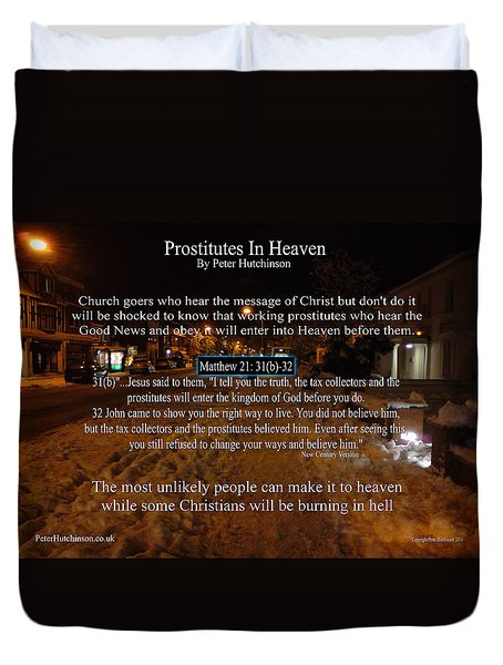 Prostitutes In Heaven Duvet Cover