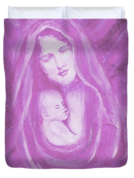 Protecting Love Of The Mother  Duvet Cover by The Art With A Heart By Charlotte Phillips