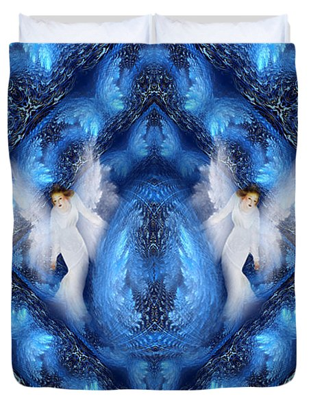 Protecting The Pineal Gland - Meditation Art  By Giada Rossi Duvet Cover