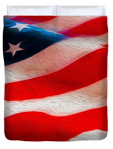 Proud To Be American Duvet Cover by Jon Neidert