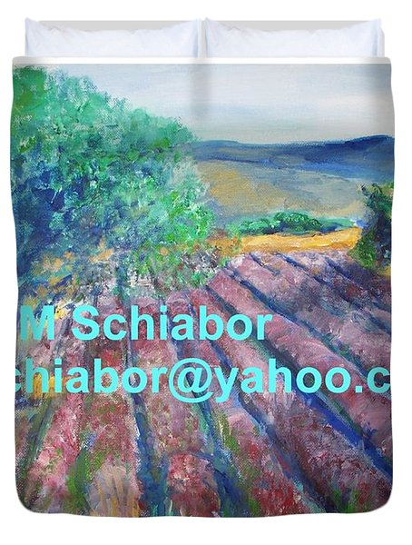 Provence Lavender Field Duvet Cover by Eric  Schiabor