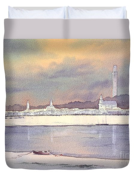 Provincetown Evening Lights Duvet Cover
