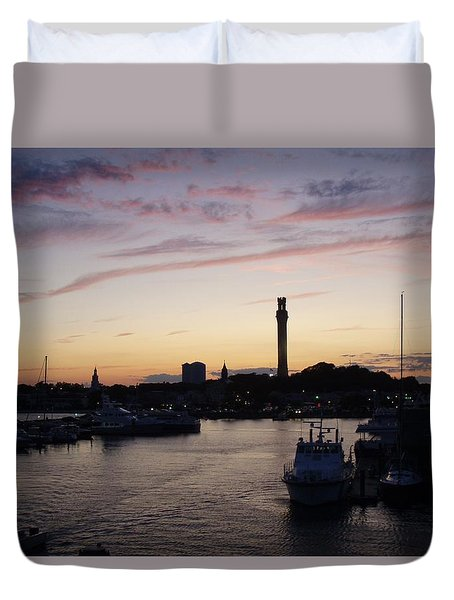 Provincetown Sunset Duvet Cover