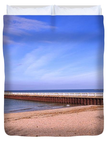 Prybil Beach Pier Duvet Cover