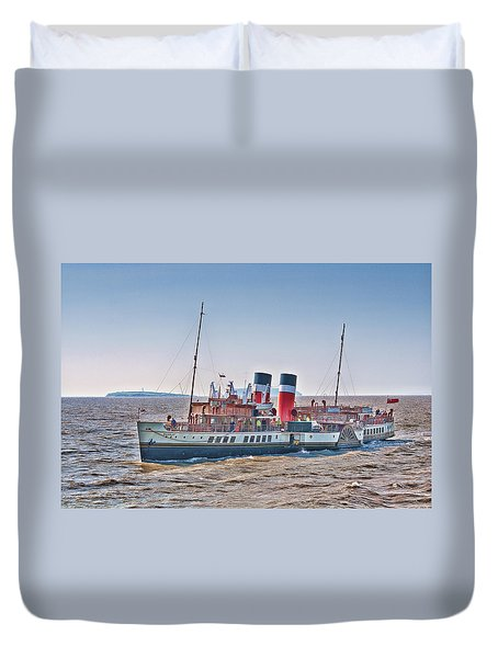 Ps Waverley Approaching Penarth Duvet Cover