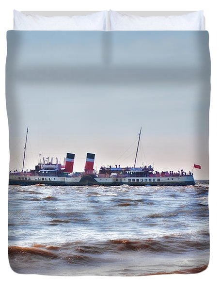 Ps Waverley Leaves Penarth Pier 2 Duvet Cover by Steve Purnell