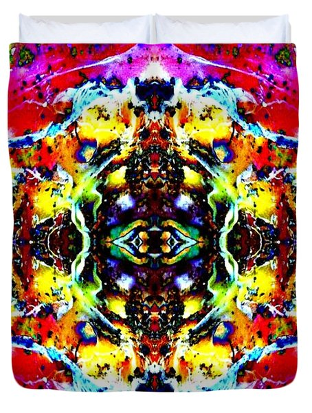 Duvet Cover featuring the photograph Psychedelic Abstraction by Marianne Dow