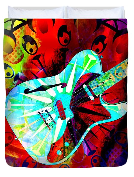 Psychedelic Guitar Duvet Cover