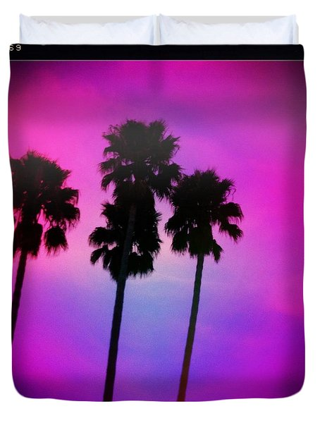 Psychedelic Palms Duvet Cover