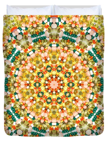 Psychedelic Pattern Duvet Cover by Jose Elias - Sofia Pereira