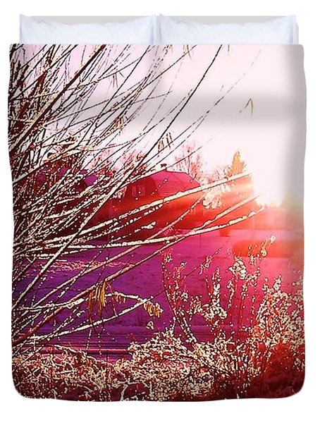 Psychedelic Winter   Duvet Cover by Martin Howard
