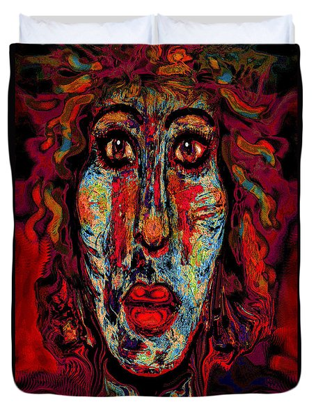 Psychic Duvet Cover by Natalie Holland