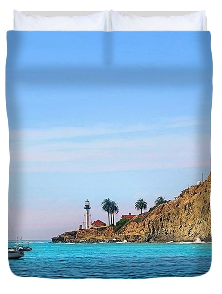 Pt Loma - San Diego Bay Duvet Cover