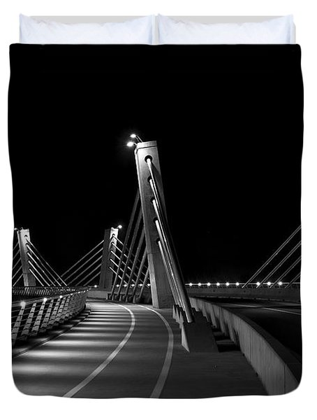 Ptuj Bridge Bw Duvet Cover