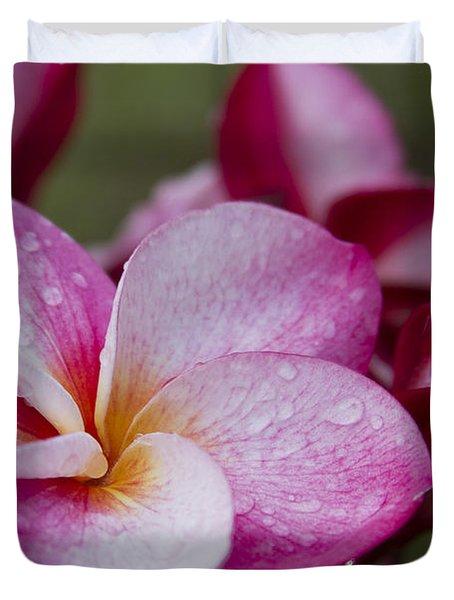 Pua Melia Floral Celebration Duvet Cover by Sharon Mau