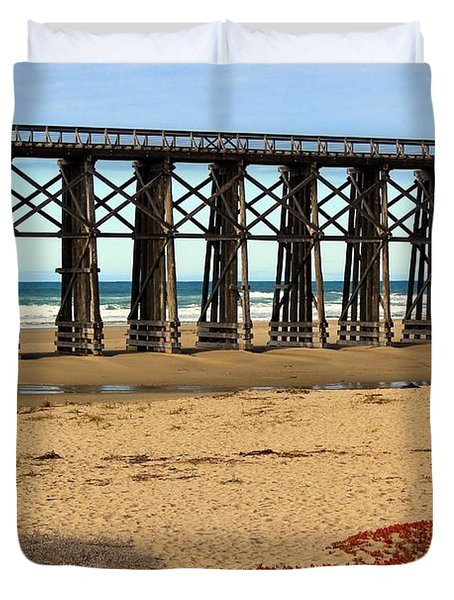 Pudding Creek Bridge Duvet Cover