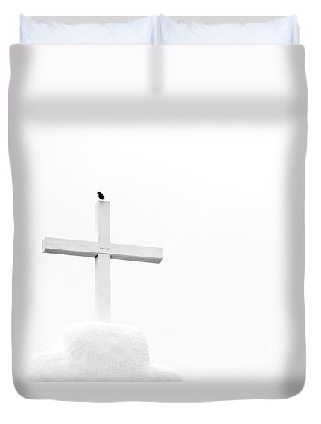 Pueblo Cross Duvet Cover