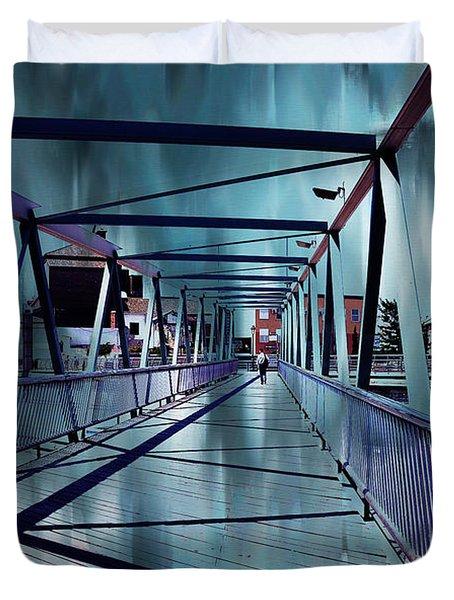 Puente De La Trinidad 1. Malaga Bridges. Spain Duvet Cover by Jenny Rainbow