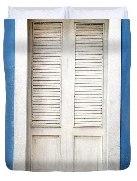 Puerta En El Viejo San Juan Duvet Cover
