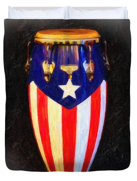 Puerto Rican Bomba Duvet Cover