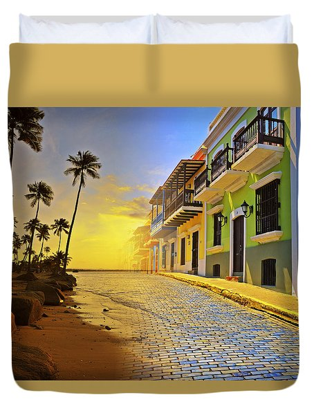 Puerto Rico Collage 2 Duvet Cover