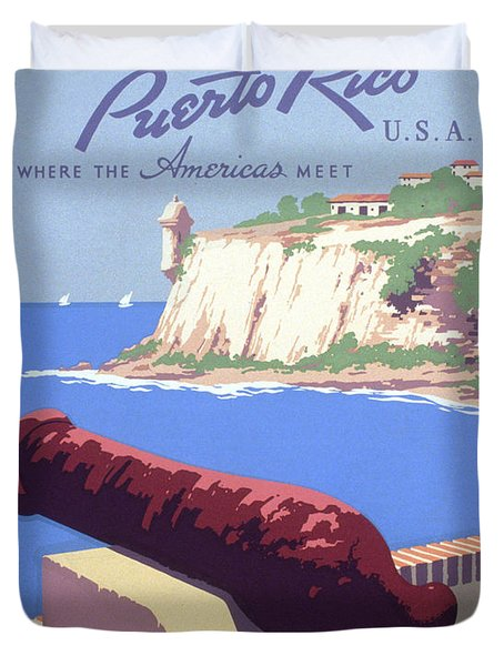 Puerto Rico Usa Duvet Cover by Unknown