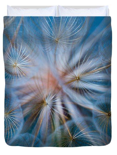 Puff-ball In Blue Duvet Cover